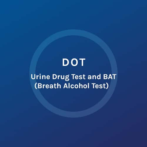 DOT - Urine Drug Test and Bat - Colorado Mobile